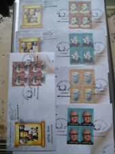India 2017 Set of 5 FDCs on Eminent Writers with cancelled block of 4