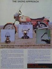 1977 Saeng Fairing Ad Features BMW 900 R90S Motorcycle