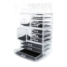 Acrylic Cosmetic Tower Organizer Makeup Holder Case Box Jewelry Storage Dra