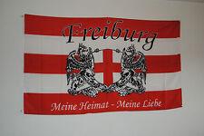 FAHNE FLAGGE 2226 FREIBURG MEINE STADT MEIN VEREIN FUSSBALL  BADEN FUSSBALLFAN