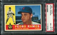 1960 Topps Baseball #175 PEDRO RAMOS Washington Senators PSA 8 NM-MT