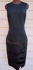 NEW $2790 Ralph Lauren Collection 6 Black Shade Silk Sheath Dress
