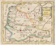 1705 Nice La Croix Map of Picardy,  France