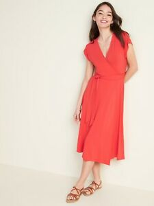 NWT: old navy Wrap-Front Dolman-Sleeve Midi Dress for Women (S) $45