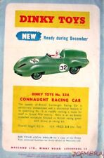1956 Dinky Cars ADVERT No.236 'Connaught Racing Car' - Vintage Toy Print AD