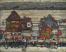 Schiele Egon Houses With Laundry Suburb II Canvas 16 x 20  #5299