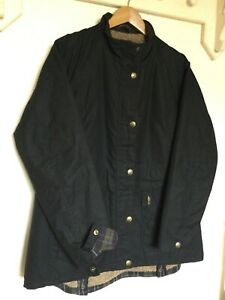 Ladies JACK MURPHY Black Waxed Jacket Coat 18