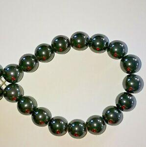 10mm Hematite round black beads X 20 No.