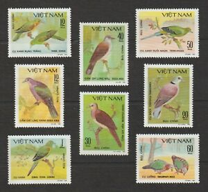 1981 Vietnam Stamps Complete Doves Collection Scott # 1124 - 1131 MNH