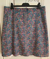 Sportscraft 'monet' LIBERTY print straight SKIRT, size 16, excellent condition