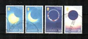 ALDERNEY Scott's 128-31 ( 4v ) Total Solar Eclipse F/VF Used ( 1999 )