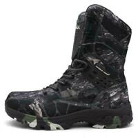 Men Camouflage Army Boots Waterproof Shoes High Top Combat Military Desert Shoes