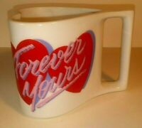 AVON Forever Yours Heart Shaped Red Hearts Coffee Mug Cup