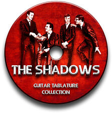 THE SHADOWS & HANK MARVIN GUITAR TABS TABLATURE SONG BOOK SOFTWARE CD
