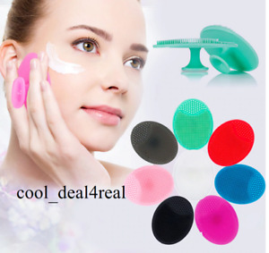 DEEP CLEANSING SILICONE Exfoliating Face Brush Facial Massage Pad FREE POSTAGE
