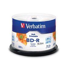 Blu-ray BD-R SL 25GB 6X Verbatim FF InkJet Printable Tarrina 50 uds