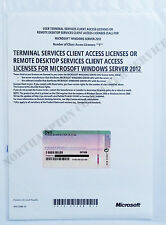 Windows Server 2012 RDS Terminal Services 5 USER CALS 09TG09 DELL Remote Desktop