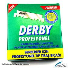 100 Derby Rasierklingen auswechselbar für Rasiermesser Jilet razor blade
