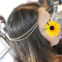Dazzling Women's Bohemian Head Chain Jewelry Forehead Headband Piece Hair Gift