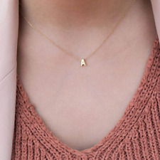 Tiny Heart Dainty Initial Personalised Letter Name Choker Necklace Women Pendant