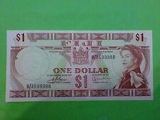 Fiji $1 Dollars 1974 (UNC) + Nice Number B/3  599988