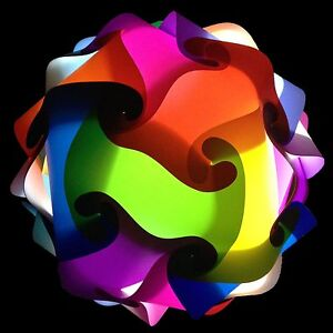 Medium 21 Colors Wedding Party Lights DIY IQ Jigsaw Puzzle Infinity Lamp USA