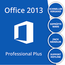 Microsoft Office 2013 Professional Plus Vollversion | Deutsch | 32/64 Bit | 1PC