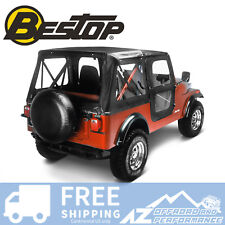 Bestop Replace A Top 76-83 Jeep CJ5 Door Skins Clear Windows Black Crush