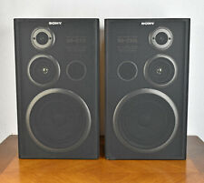 Pair of Sony SS-D115 Bookshelf Speakers 3-Way Black Wood 6 OHM 70W
