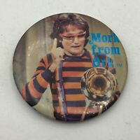 1979 Mork From Ork Robbin Williams TV Show Promo Button Pin Pinback Vintage M9