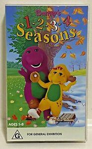 VHS Video ' Barney's 1 - 2 - 3 - 4 Seasons ' Barney & Friends 1997  Free Post