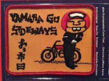 Vintage Patch NOS Yamaha Go Sideways  Motorcycles Biker 70s Rat Hot Rod Funny