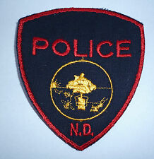 """OBSOLETE US POLICE PATCH  """"ND"""""""