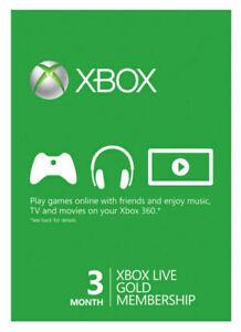Microsoft - Xbox Live Gold 3 Month Membership