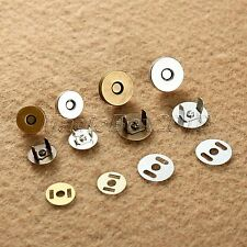 Sewing Magnetic Clasp Fastener Snaps Button For Purse Bag Craft Clothing Round