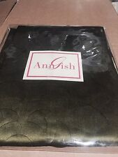 $225! Nwt Ann Gish Pom Pom Cypress Green Standard Pillow Sham Gorgeous!