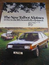 TALBOT ALPINE  SALES BROCHURE 1980   jm