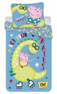 GEORGE PIG ~ 'Dino' Single Bed Quilt Cover Set