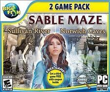 Big Fish: Sable Maze 1: Sullivan River and Sable Maze 2: Norwich Caves - PC, Exc