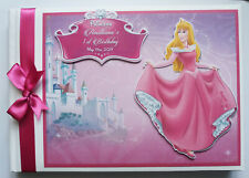 Personalised disney Aurora girls birthday guest book, disney princess birthday