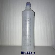50 x Leerflasche Plastikflasche HDPE Rundflasche mit Skala Sicherheitsverschluss