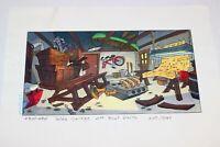 Walt Disney TV Animation GOOF TROOP 1992 Color Key Laser Background Pete Garage