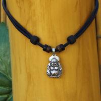 Buddha Halskette Lederkette Budda Kette Herren Damen Om Surferkette Halsband Goa