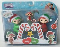 New Fingerlings Holly & Jolly Christmas Collection 3 Piece Set Regular & Mini