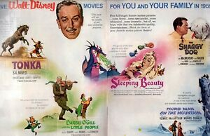 1959 2 PAGE ORIGINAL VINTAGE WALT DISNEY'S MOVIE COLLECTION MAGAZINE AD (E)