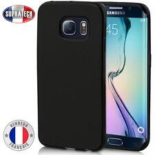 Coque Housse Silicone Noir Souple pour Samsung Galaxy S6 Edge + Plus G928