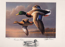 RW62 1995 FEDERAL DUCK STAMP PRINT MALLARDS EXECUTIVE ED by Jim Hautman
