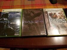 Xbox 360 Game Lot Halo 3 ODST & Essentials, Ghost Recon Advances Warfighter CIB