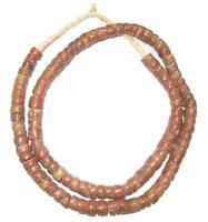 Bauxite Beads 8mm Ghana African Brown Cylinder Stone 24-26 Inch Strand Handmade