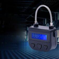 1pc Multipurpose Timer Lock Safety Padlock USB Rechargeable Waterproof Equipment